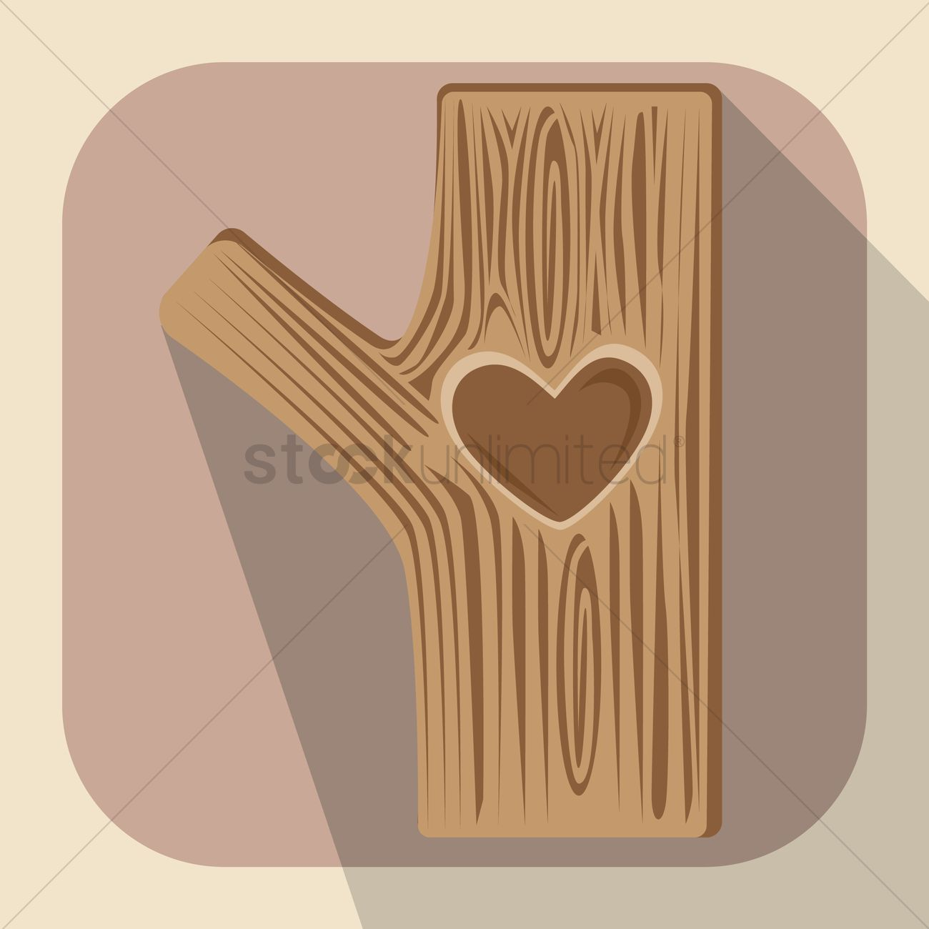 1300x1300 Engraved Heart Shape On Tree Bark Vector Image
