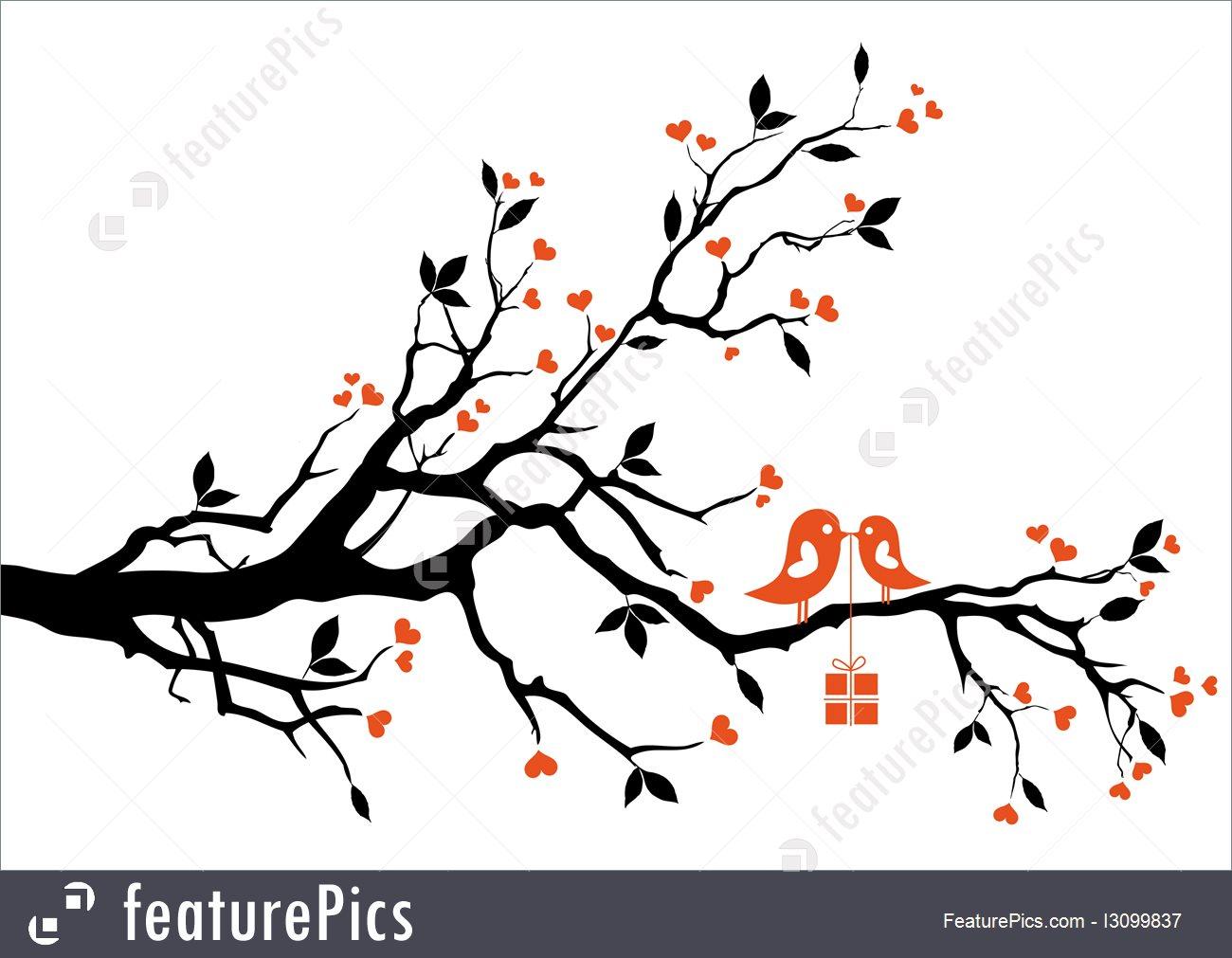 1300x1011 Love Bird, Vector Stock Illustration I3099837