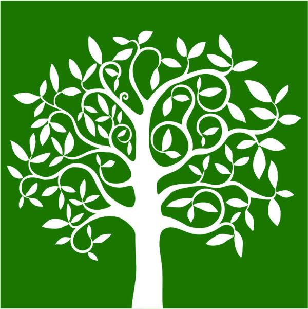 600x601 Elegant Tree Branch Silhouette Vector 05 Free Download