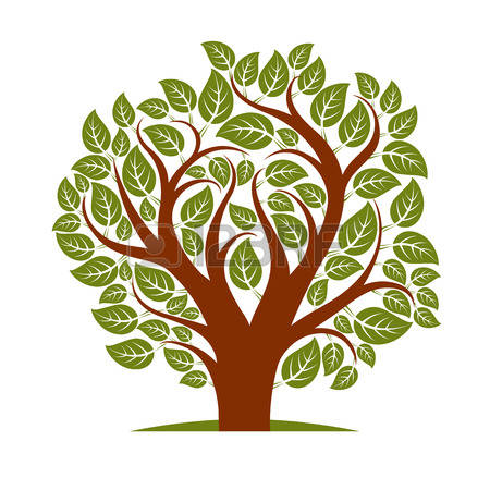 450x450 Vector Illustration Autumn Tree With Branches In The Shape Free