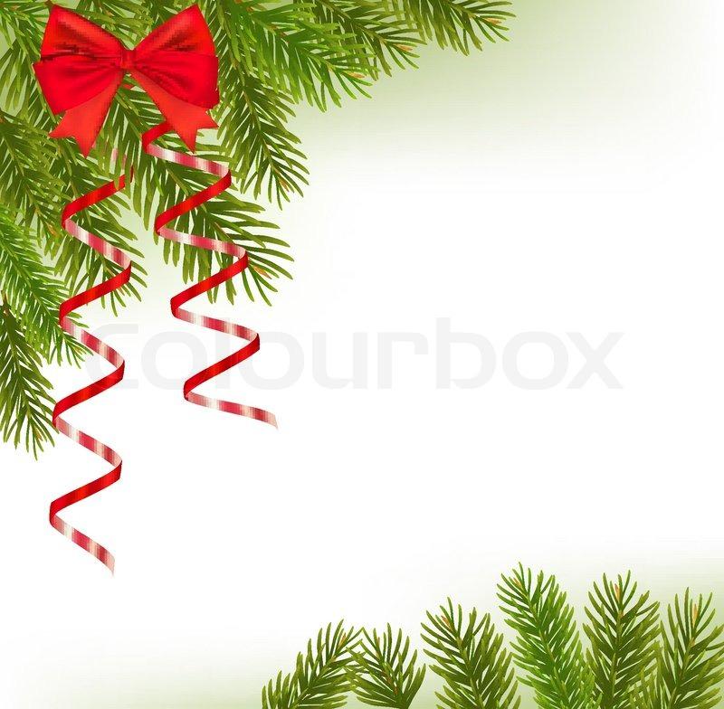 800x784 Xmas Tree Branches. Vector Stock Vector Colourbox
