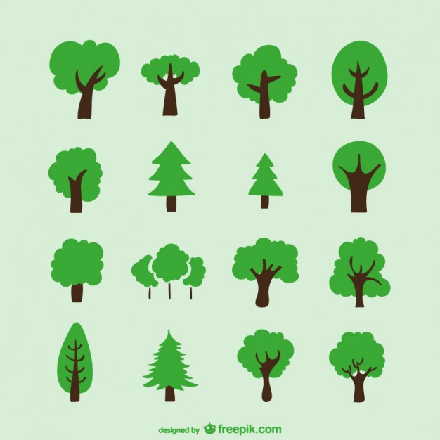 626x626 Hand Drawn Trees Vector Free Download