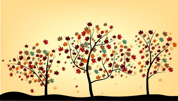 600x341 Maple Tree Drawing Free Vector In Adobe Illustrator Ai ( .ai