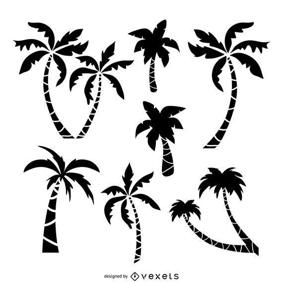 570x570 Palm Trees Drawing Set