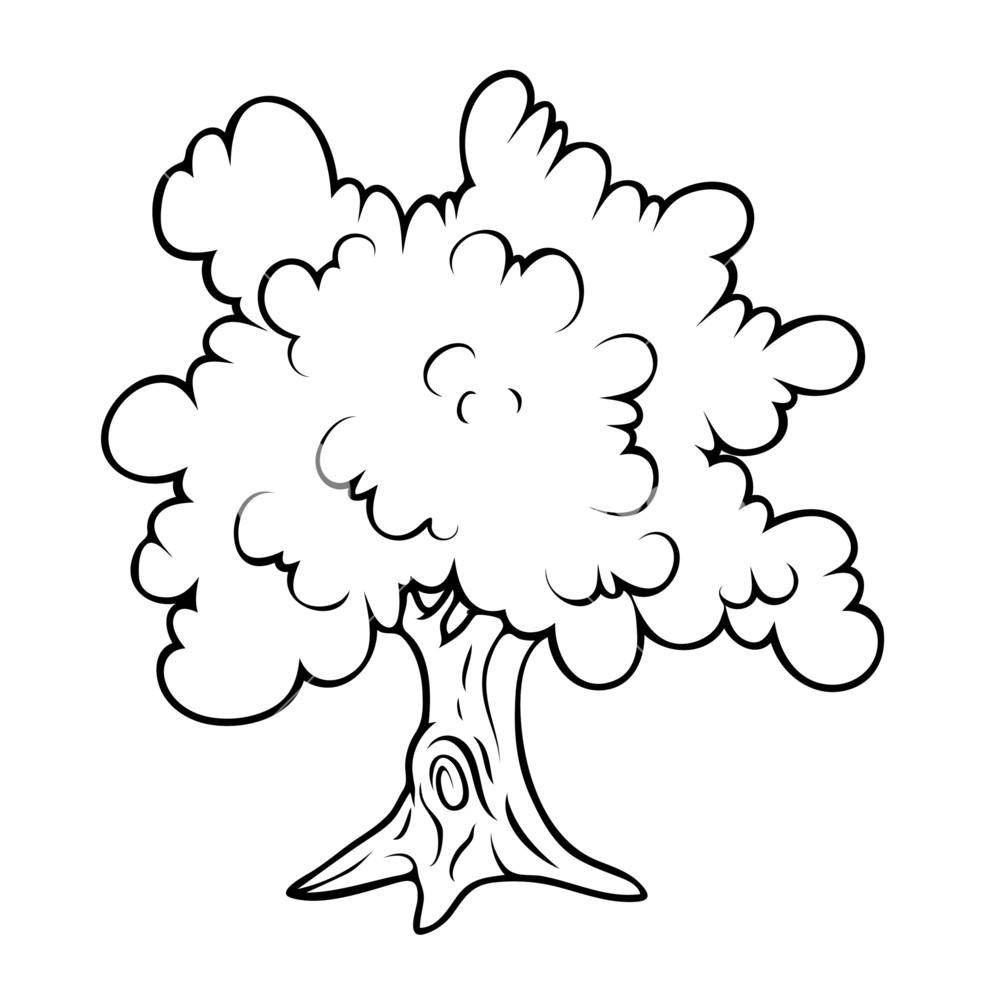 981x1000 Tree Drawing Vector Royalty Free Stock Image