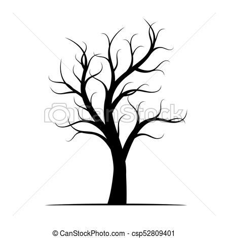 450x470 Winter Tree Drawing