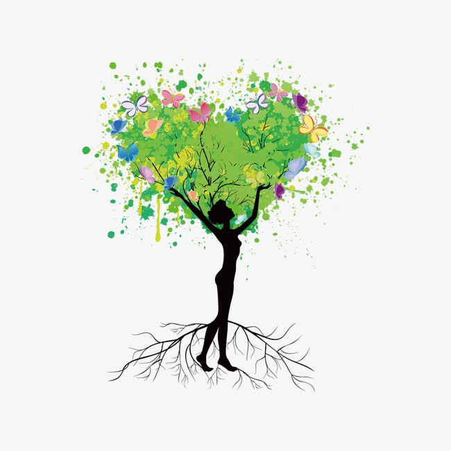650x650 Creative People Tree, Silhouette Figures, Tree, Drawing The Tree