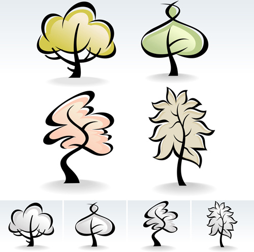 500x497 Drawing Cute Tree Vector Graphics Free Vector In Encapsulated