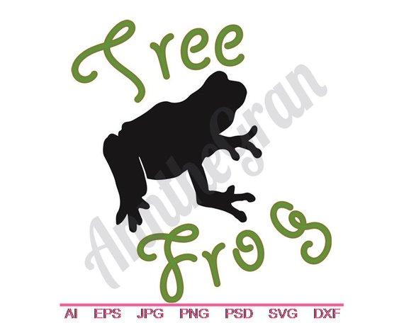 570x456 Tree Frog Svg Dxf Eps Png Jpg Vector Art Clipart Cut Etsy