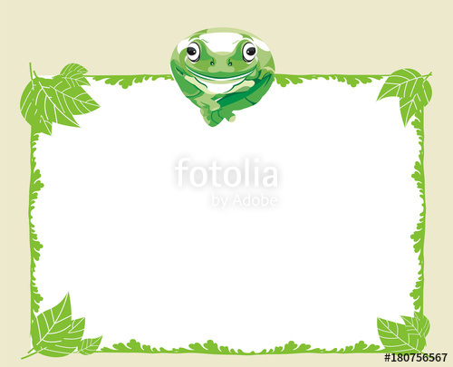 500x405 Tree Frog On Paper Stock Image And Royalty Free Vector Files On