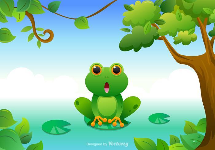 700x490 Free Cartoon Green Tree Frog Vector