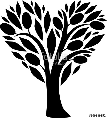 454x500 Heart Olive Tree Stock Image And Royalty Free Vector Files On
