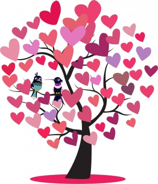 316x368 Heart Tree Free Vector Download (9,204 Free Vector) For Commercial