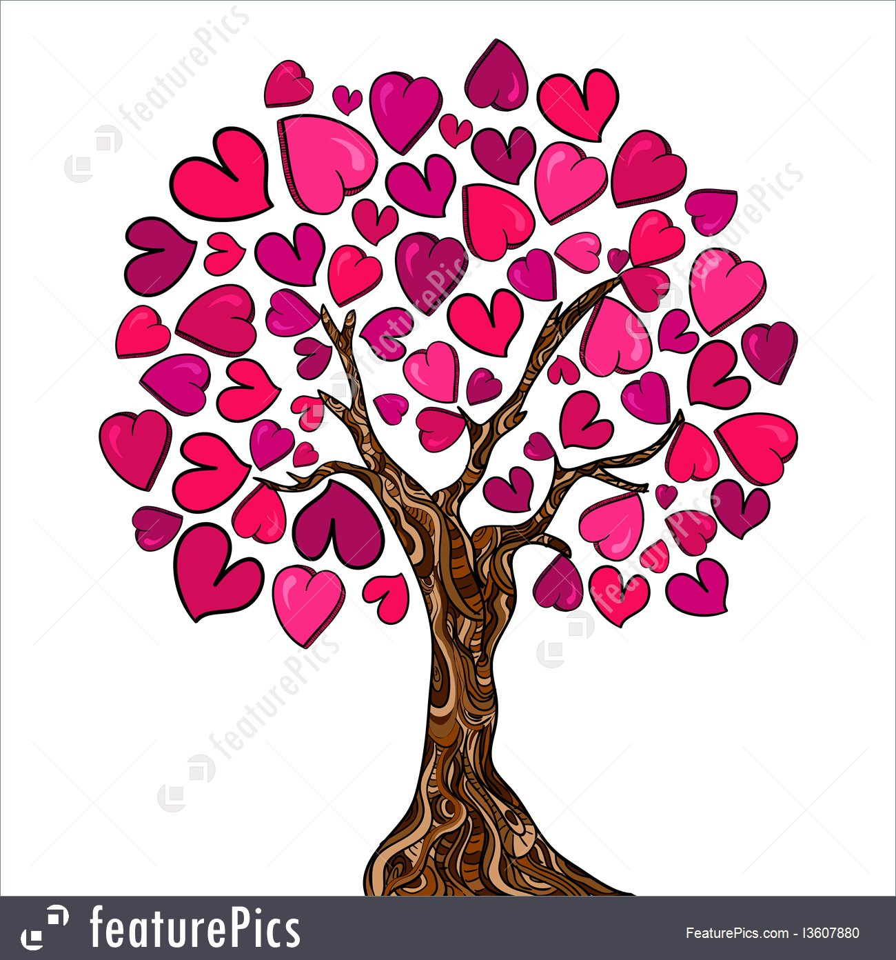 1300x1392 Holidays Love Concept Tree Card