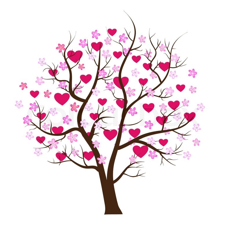 800x794 Love Design. Tree With Hearts Vector Art Stock Vector Colourbox