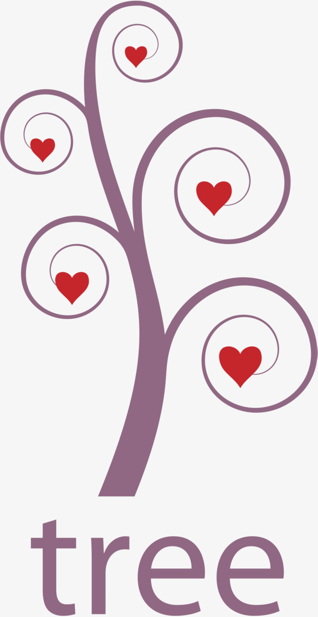 650x1260 Red Heart Tree, Heart Vector, Tree Vector, Heart Clipart Png And