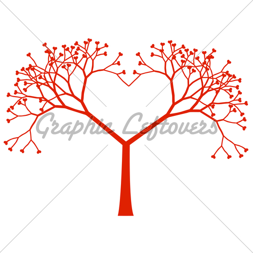 500x500 Tree Heart, Vector Gl Stock Images