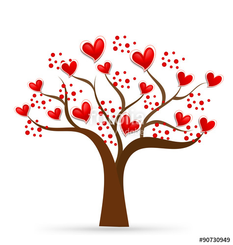 475x500 Tree Heart Love Logo Vector Stock Image And Royalty Free Vector