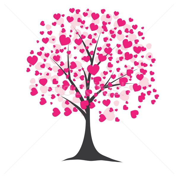600x600 Tree With Hearts. Vector Illustration Vector Illustration Darya