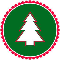 256x256 Christmas Tree Icon Vector Christmas Iconset Designbolts