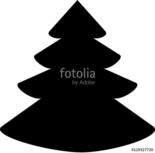 500x494 Christmas Tree Icon Christmas Tree Vector Icon Christmas Tree