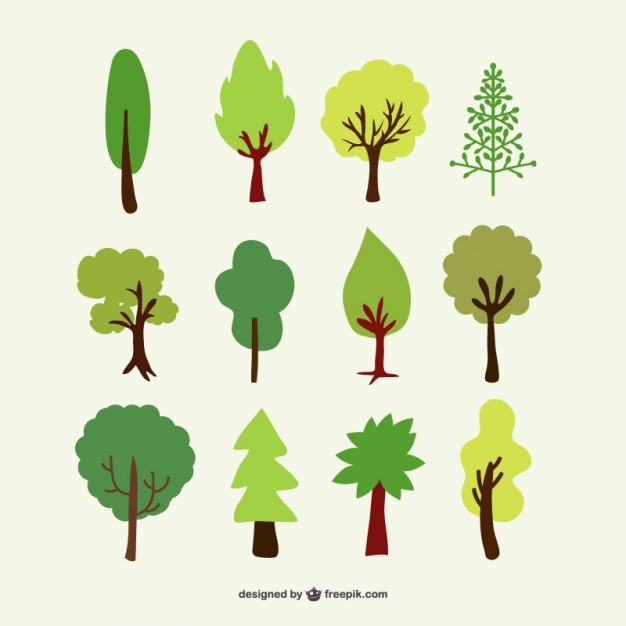 626x626 Forest Trees Set Vector Free Download