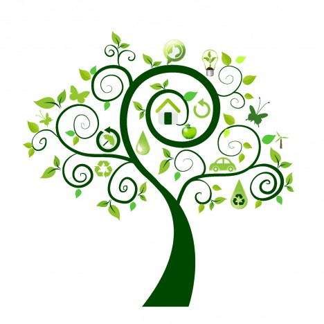 468x468 Green Tree With Ecology Icons Vectors Stock In Format For Free