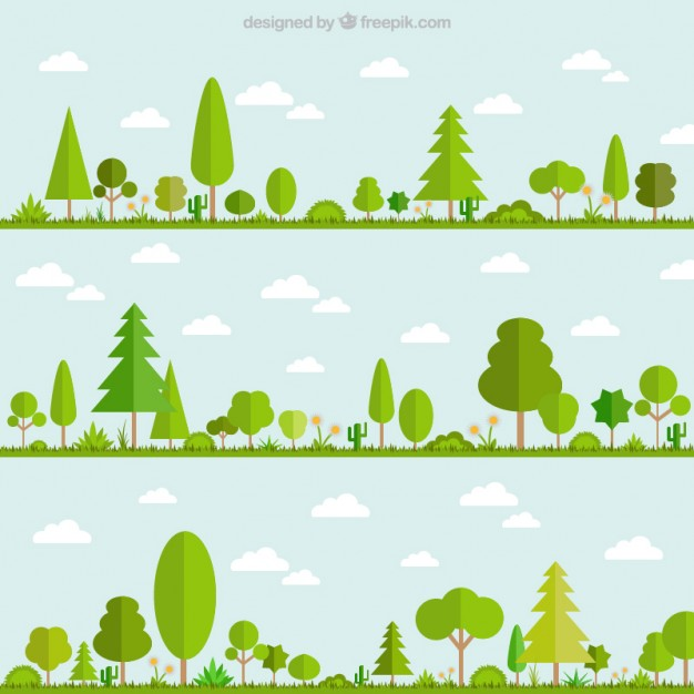 626x626 Green Trees Vector Free Download