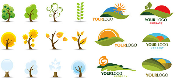 575x257 Icon And Logo Trees Vector Free Vector In Encapsulated Postscript