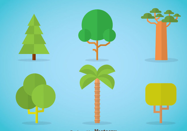 632x443 Tree Flat Icons Vector Free Vector Download 367685 Cannypic