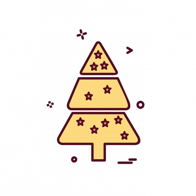 640x640 Christmas Tree Icon Design Vector, Vector, Christmas, Design Png