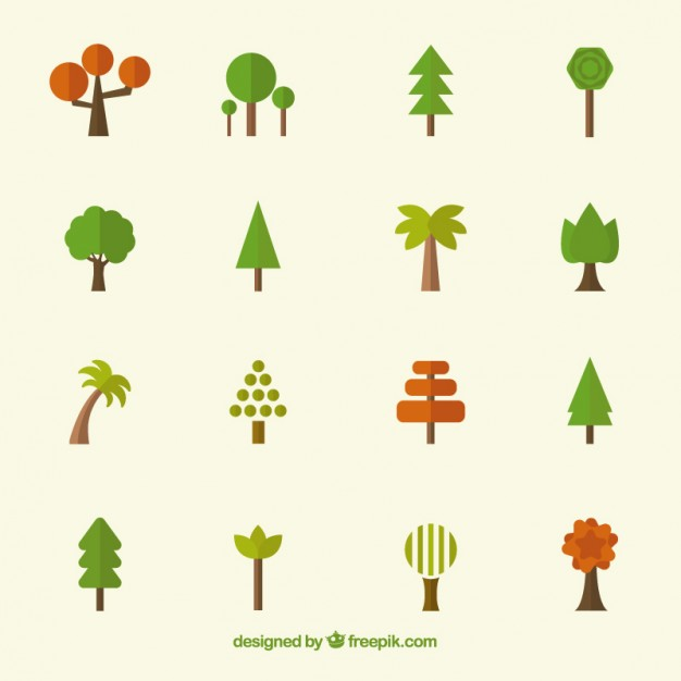 626x626 Tree Icons Collection Vector Free Download