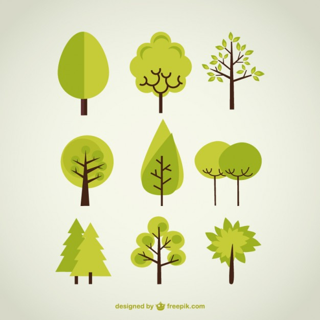 626x626 Trees Collection Vector Free Download