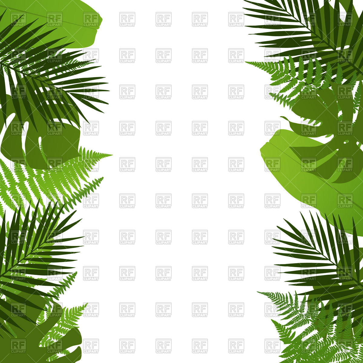 1200x1200 Tropical Leaves Background