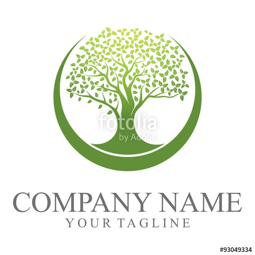 500x500 Green Oak Tree Logo Stock Image And Royalty Free Vector Files On