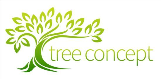 550x270 Green Tree Logos Vector Graphic 01