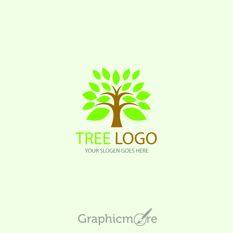 800x800 Tree Logo Design Template Free Vector File By Graphicmore