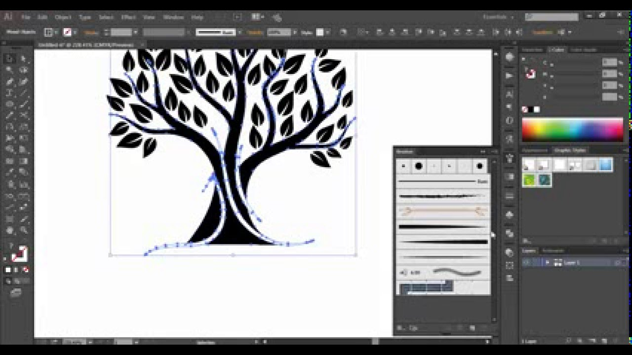 1280x720 Vector Tree Logo Tutorial