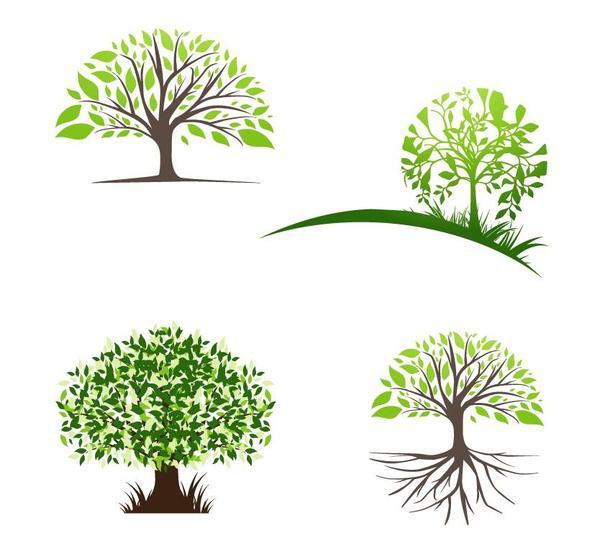 600x536 Creative Tree Logos Design Vector Free Download