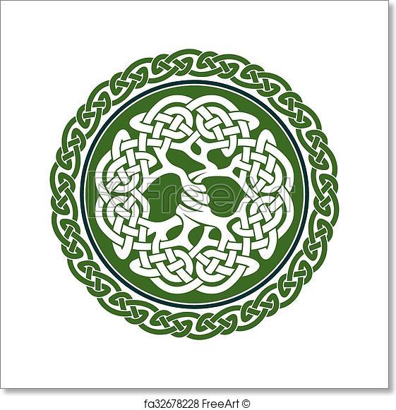 561x581 Free Art Print Of Celtic Tree Of Life. Illustration Of Celtic Tree