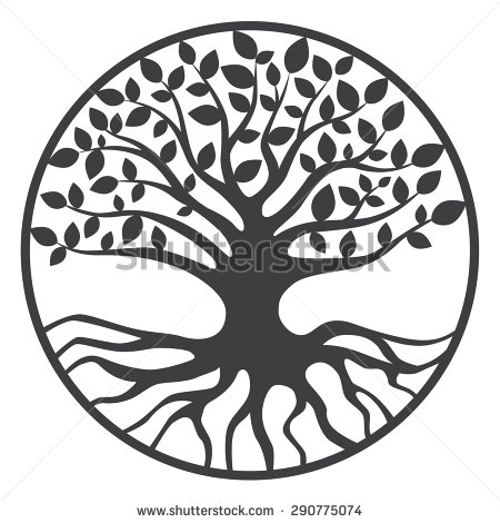 450x470 Black And White Tree Of Life Clipart Collection