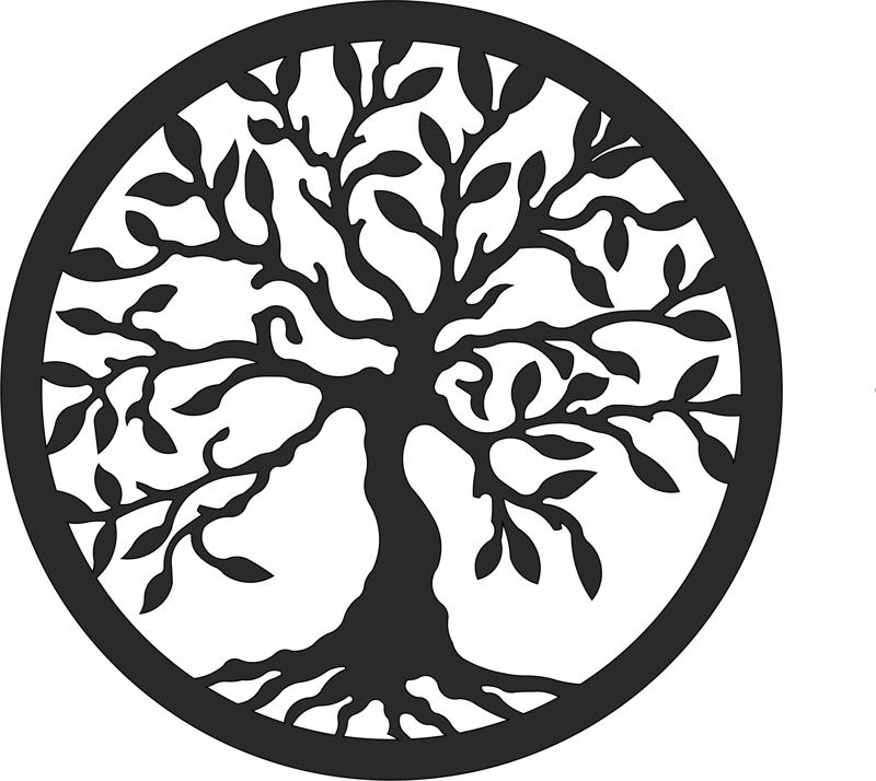 800x714 Tree Of Life Laser Cut Vector (.eps) Vector File Free Download