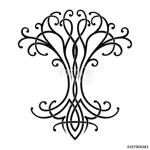 500x500 Vector Celtic National Drawing Of A Tree Of Life. Stock Image And