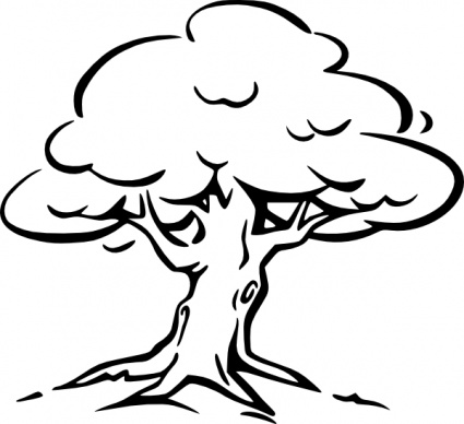 425x388 Free Download Of Tree Outline Vector Graphics And Illustrations