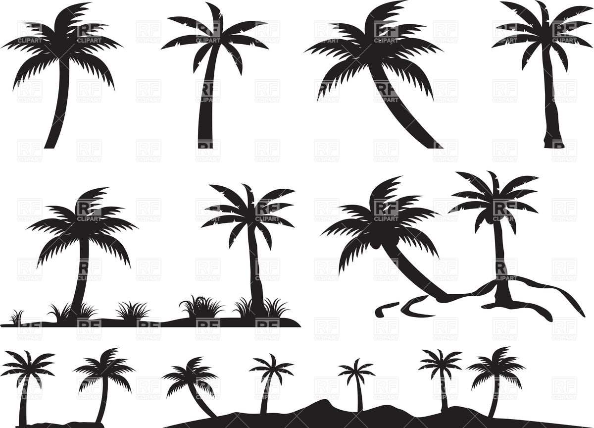 1200x864 Silhouettes Of Palm Trees And Islands Vector Image Vector