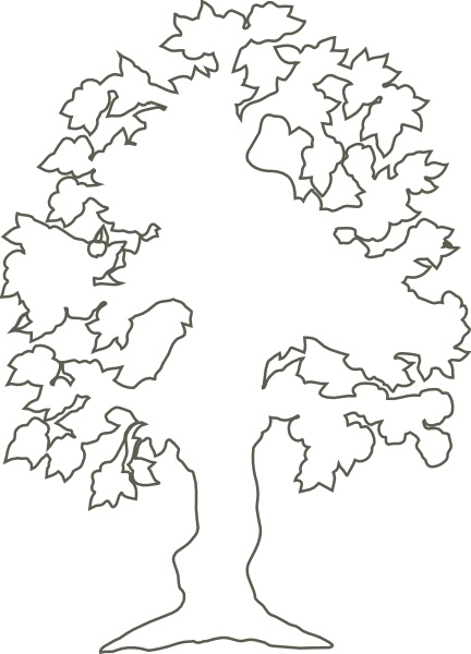432x600 Simple Flowering Tree Outline Clip Art Free Vector In Open Office