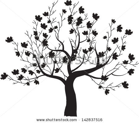 450x400 Stunning Outline Image Of Tree Tree Outlines