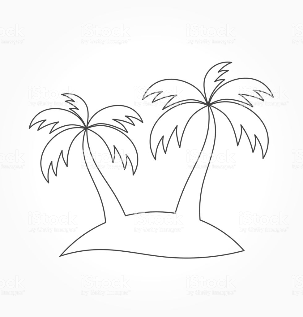 980x1024 Survival Palm Tree Outline Trees Shape Stock Vector Art More