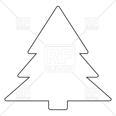 400x400 Christmas Tree Outline On White Background