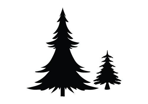 500x350 Free Vector Christmas Tree Outline Christmaswalls.co
